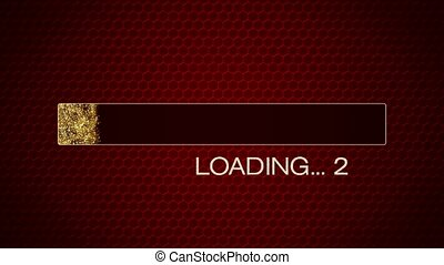 Video animation of a golden glitter loading bar 2020 - New Year concept