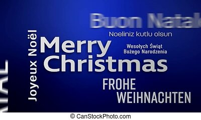 video animation of a word cloud - Merry Christmas - video...