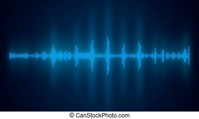 Video animation of an audio spectrum - seamless loop - Video...