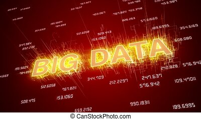 Video animation of big data network