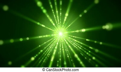 Video animation of flash and light beams - Video animation...