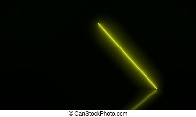 Video animation of glowing vertical neon lines in green and yellow