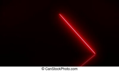 Video animation of glowing vertical neon lines in red
