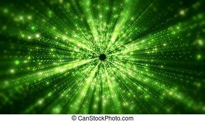 Video animation of light beams - Video animation green light...