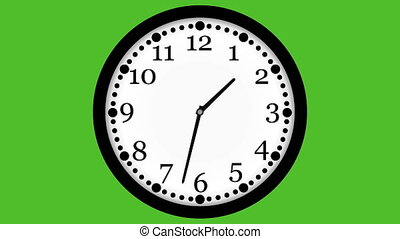 video animation of loopable clock - 4K video animation of...