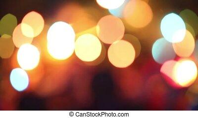 video., atmosphérique, famille, gingembre, year., joyeux, noël., nouveau, biscuits., noël, celebration., heureux