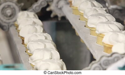 Automatic production line of ice cream