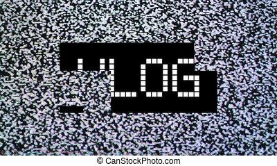 Video blog concept - Video blog or Vlog concept. title over...