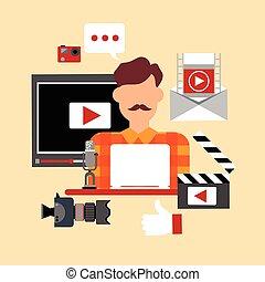 Video Blogger Blog Technology Concept