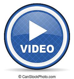 video blue icon