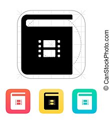 Video book icon.