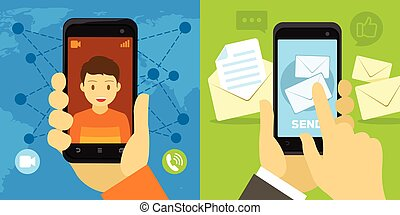 video call and message from smartphone
