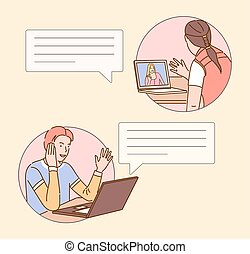 Video call illustration
