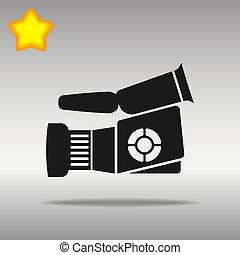 Video camera black Icon button logo symbol