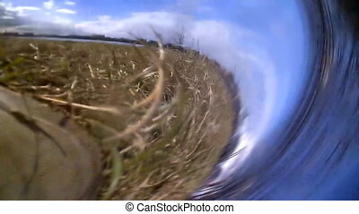 video camera falls from hands to the ground - camera...