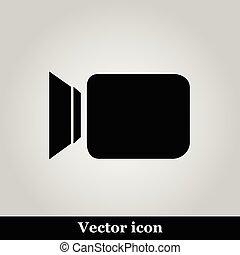 Video camera flat icon