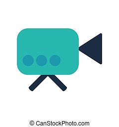 Video camera flat vector icon