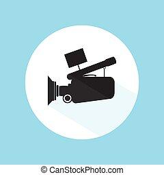 Video Camera Footage Cinema Icon Pro Silhouette Vector Design Illustration