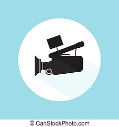 Video Camera Footage Cinema Icon Pro Silhouette Vector Design Illustration