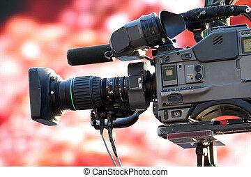 video camera for news tv broadcasting