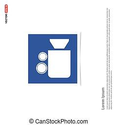 Video Camera Icon - Blue photo Frame