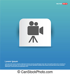 Video Camera Icon - Blue Sticker button