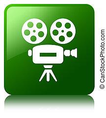 Video camera icon green square button