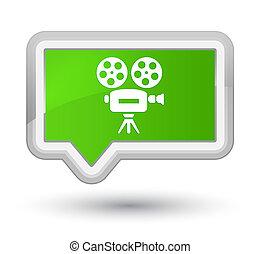Video camera icon prime soft green banner button