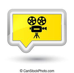Video camera icon prime yellow banner button