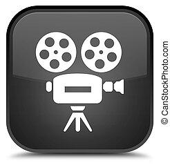 Video camera icon special black square button