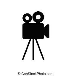 Video camera -  icon vector
