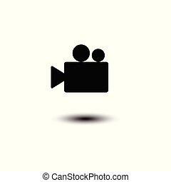 Video camera Icon vector flat design