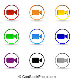 Video camera icons.