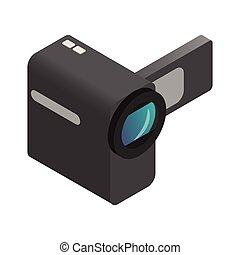 Video camera isometric 3d icon