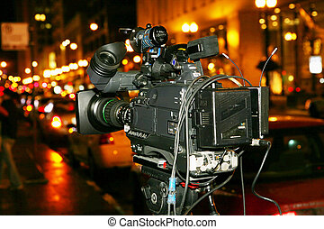 Video camera live on the street