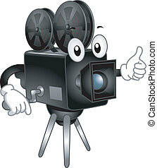 Video Camera Mascot - Mascot Illustration Featuring a Video...
