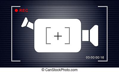 video camera symbol vector
