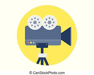 video camera vector icon sign symbol