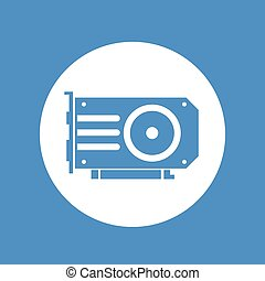 video card icon over white
