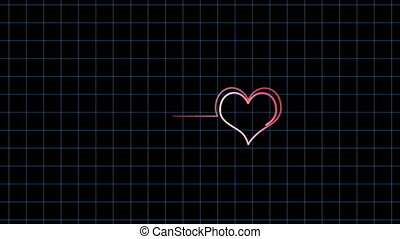cardiogram - video cardiogram on Valentine\'s Day