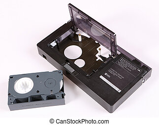 Video cassette adaptor and 16 mm cassette - Video cassette ...