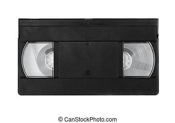 Video cassette isolated on white ba
