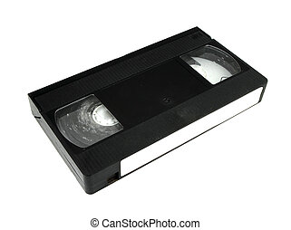 video cassette on white background