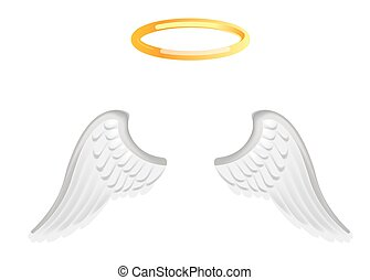 Video chat angel wings face selfie effect photo mask vector...