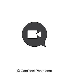 Video chat icon vector
