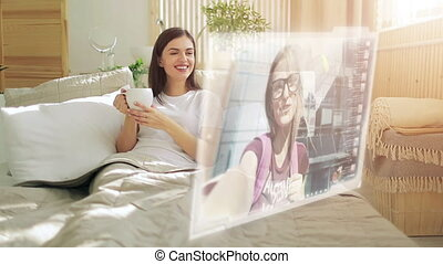 Video Chat on Hologram Screen