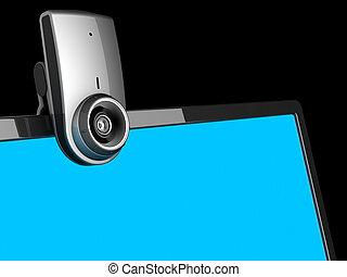 video, chiamata, apparecchiatura, (hi-res)