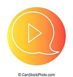 video class online education and development elearning gradient style icon