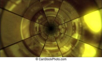 video, clip, tunnel, vortice, oro
