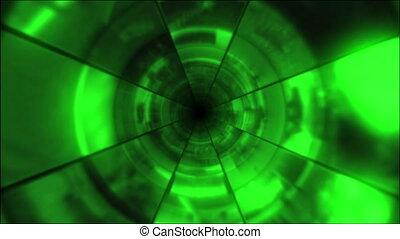 video, clip, tunnel, vortice, verde